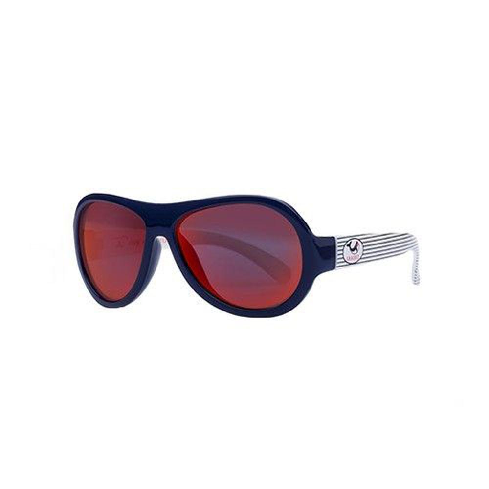 SHADEZ - 可彎折嬰幼兒時尚太陽眼鏡-藍色條紋鯨魚 (3Y~7Y)