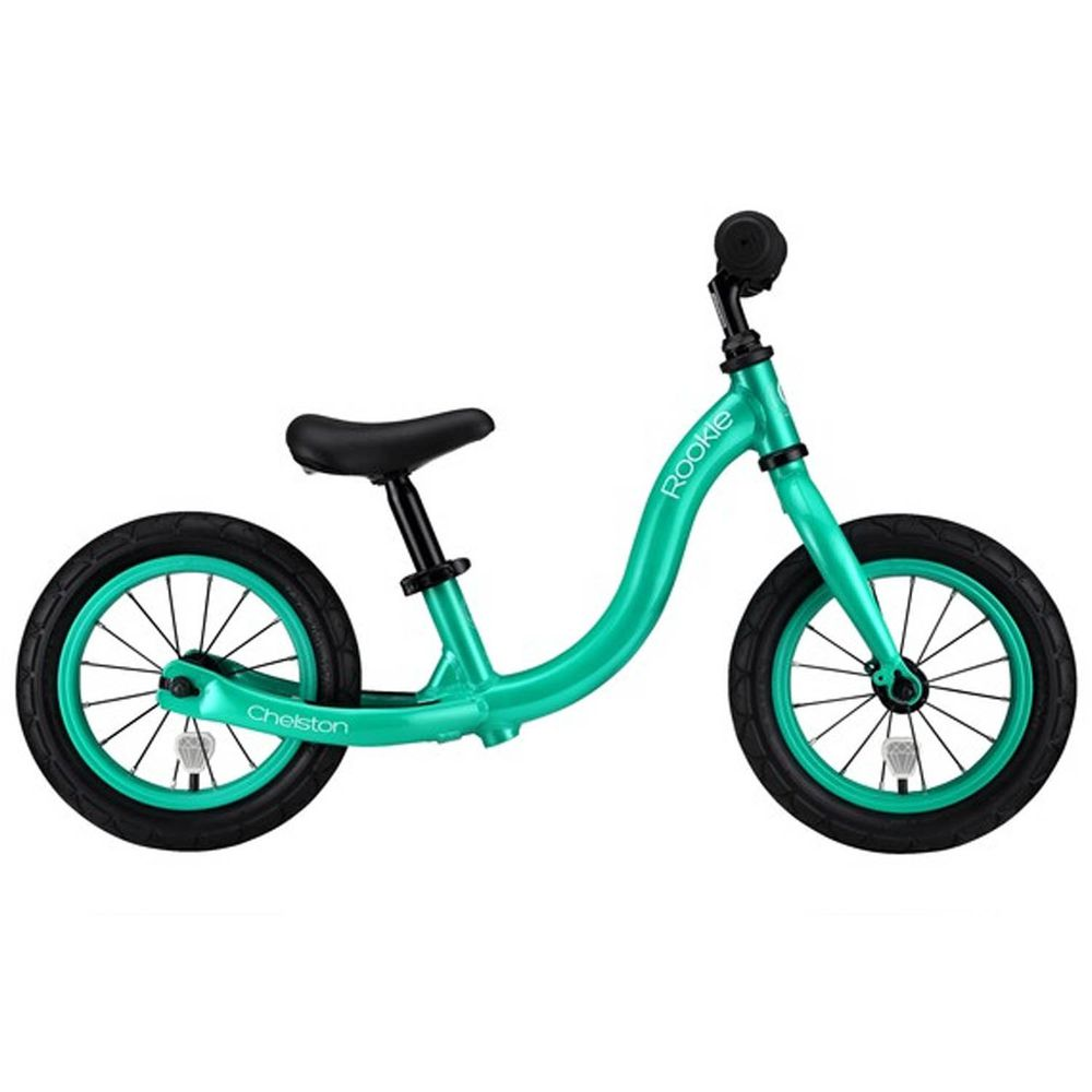 Chelston bikes - Rookie 平衡滑步車-土耳其綠-平衡滑步車 x 1 , 3 歲以下專用ABS氣嘴蓋 x 1