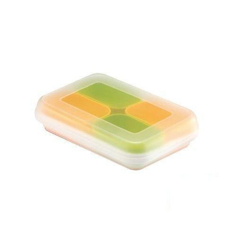 日本 Richell 利其爾 - 彩色副食品分裝盒-綠橘色-50mlx4入