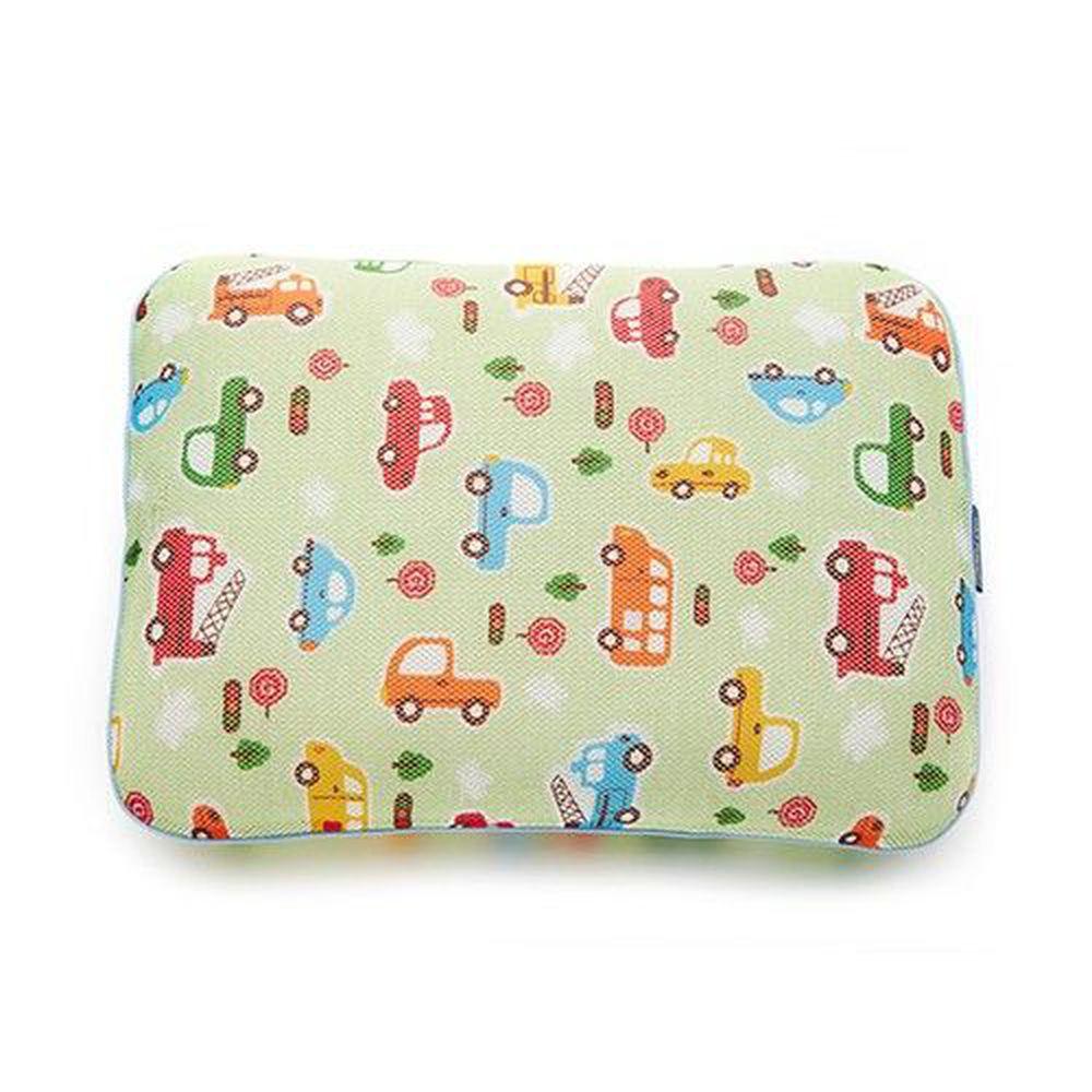 韓國 GIO Pillow - 超透氣防螨兒童枕頭-單枕套組-趣味汽車 (L號)-2歲以上適用