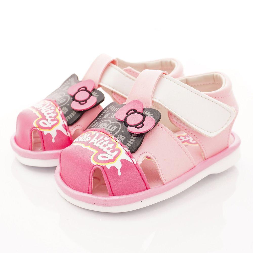 HELLO KITTY - 凱蒂卡通童鞋-餅乾造型BIBI涼鞋款(寶寶段)-粉