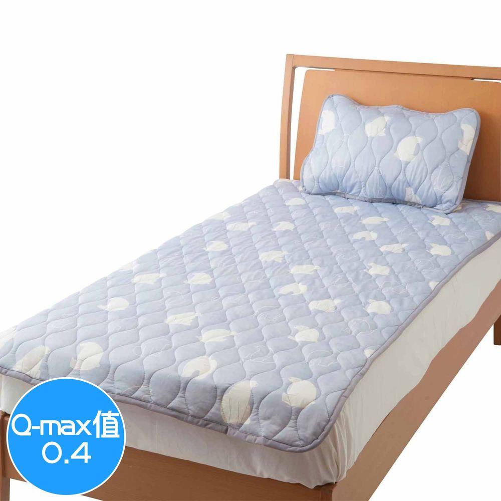 日本小泉 - 節電對策冷感波浪紋床墊毯-北極熊20-淺灰 (100x205cm)