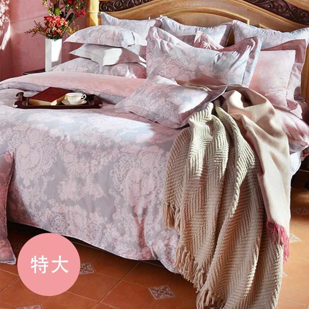 格蕾寢飾 Great Living - 義大利La Belle 防蹣抗菌吸濕排汗兩用被床包組-伊莎貝拉 (特大四件式)
