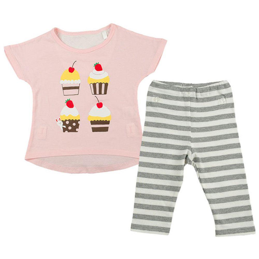 akachan honpo - 女短袖家居服CoCupa 背部為棉紗-杯子蛋糕-粉紅色