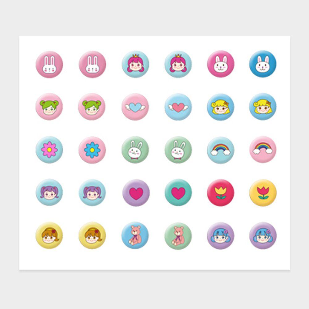 韓國 Pink Princess - 無毒兒童耳環貼(一張30貼)-女孩的玩具