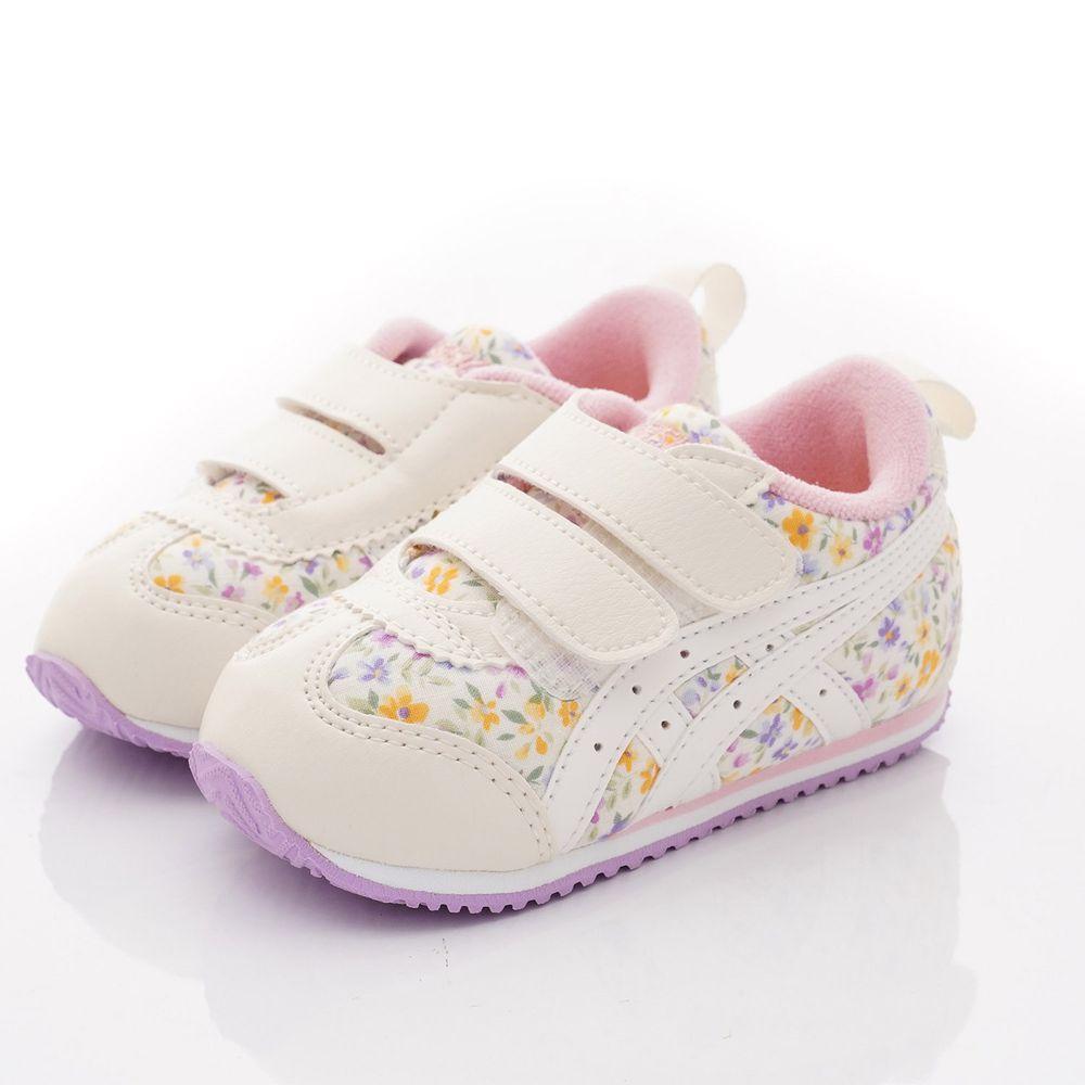 asics 亞瑟士 - 學步鞋-小碎花絆帶機能款(寶寶段)-白紫