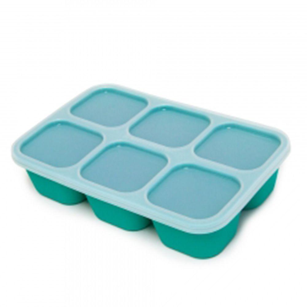 MARCUS&MARCUS - 動物樂園造型矽膠副食品分裝保存盒-綠色
