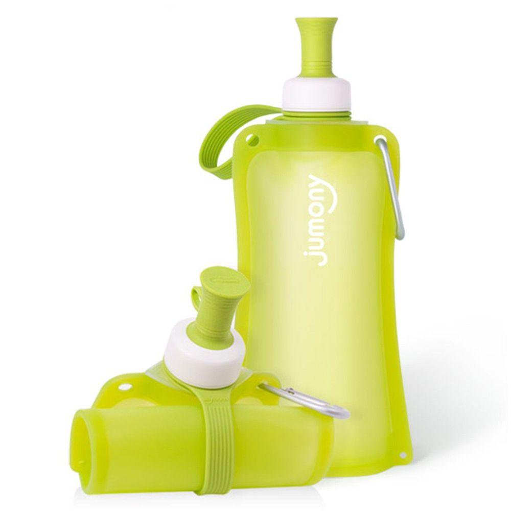 韓國 sillymann - 100%鉑金矽膠簡約便攜捲式水瓶-蘋果綠-550ml