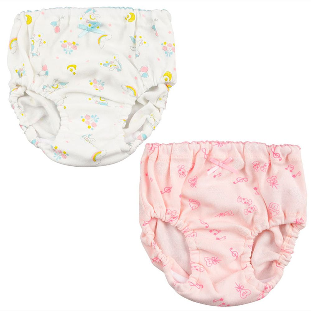 akachan honpo - 內褲2件組-獨角獸-白色