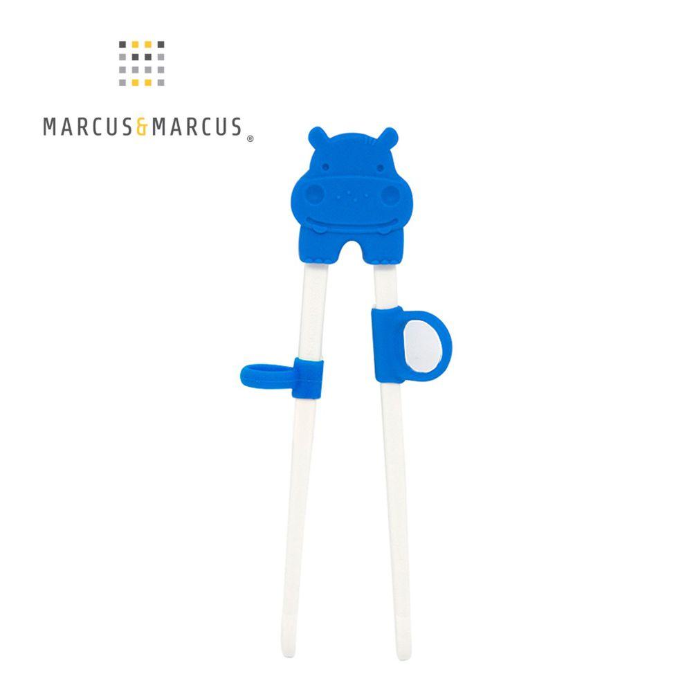 MARCUS&MARCUS - 動物樂園幼兒學習筷-藍河馬