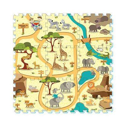 彩色印圖拼接墊-動物樂園 (32x32cm)-9片