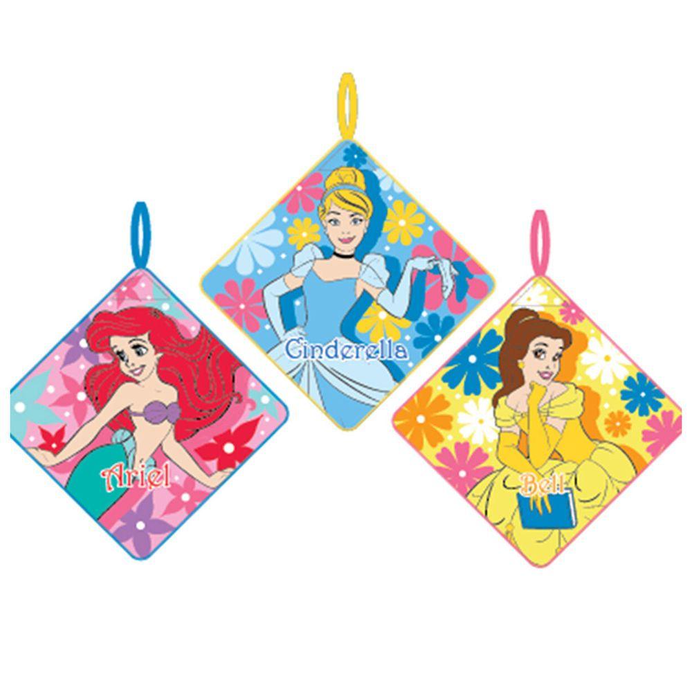 日本代購 - 卡通可掛式方巾/擦手巾三件組-小美人魚X灰姑娘X貝兒 (28x28cm)