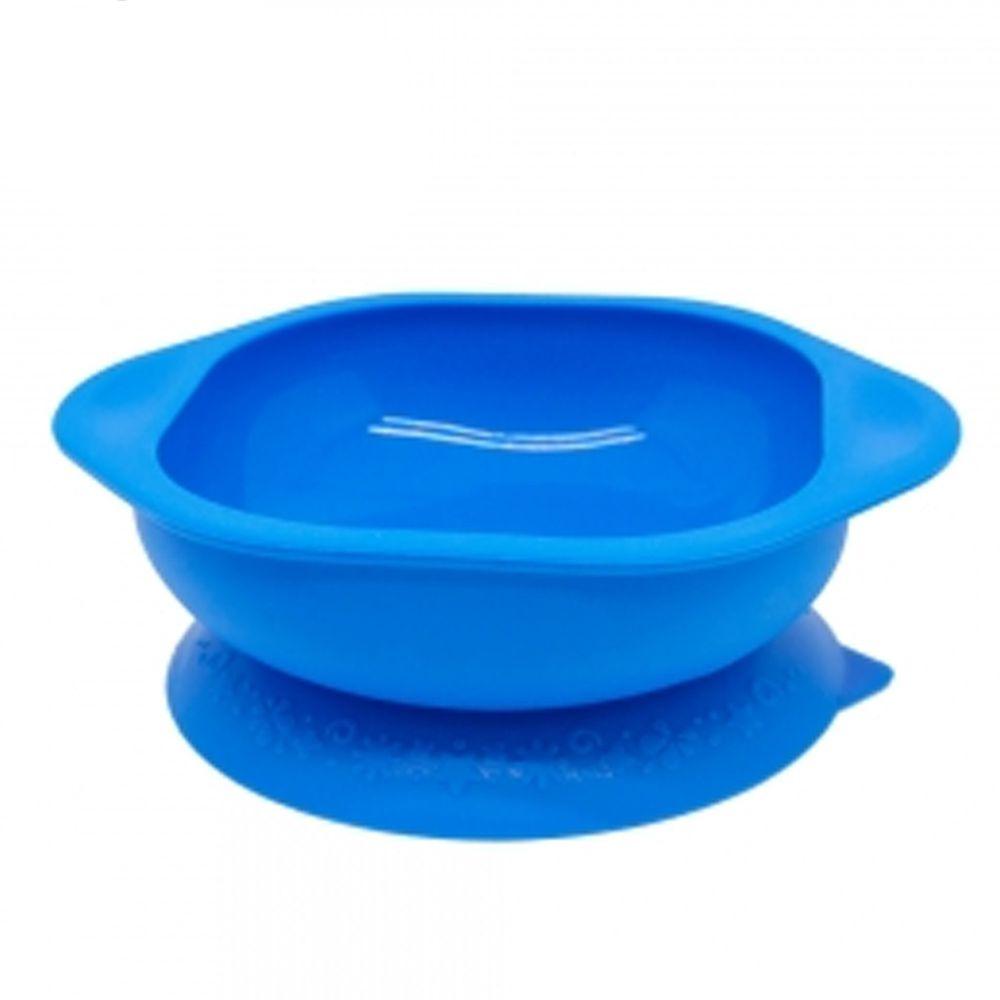 MARCUS&MARCUS - 動物樂園矽膠防漏幼兒學習吸盤碗-藍河馬