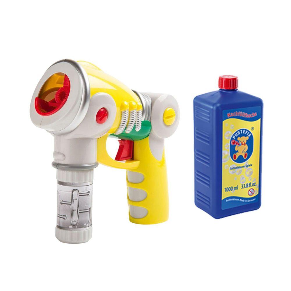 德國 Pustefix - 魔法泡泡電動槍一入+補充液一入-55ml+1000ml