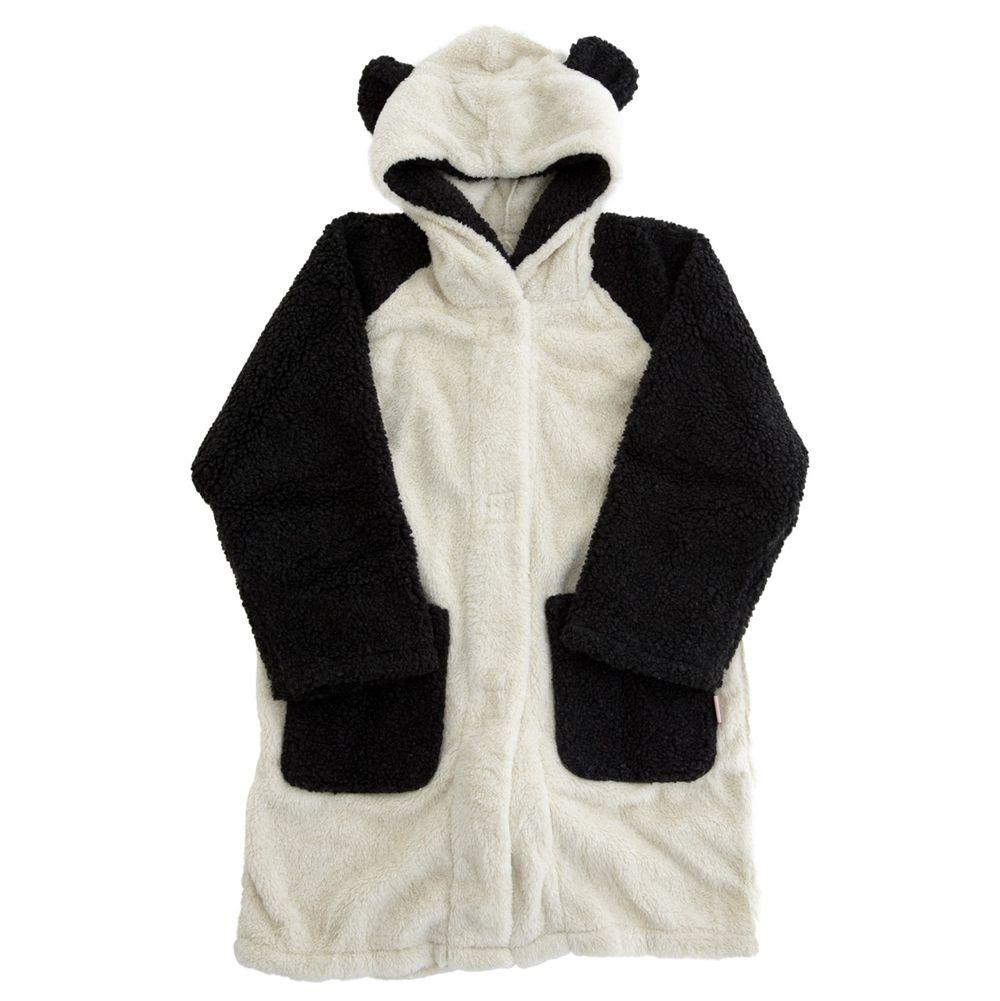 日本 BISQUE - 動物造型連帽超柔軟保暖外套(大人)-熊貓-米 (free size)