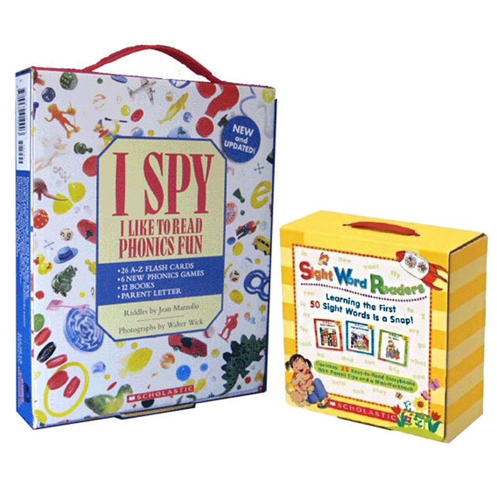 Scholastic - 【超值合購】I Spy Phonics Box 找找看單字+Sight Word Readers Boxed Set+CD