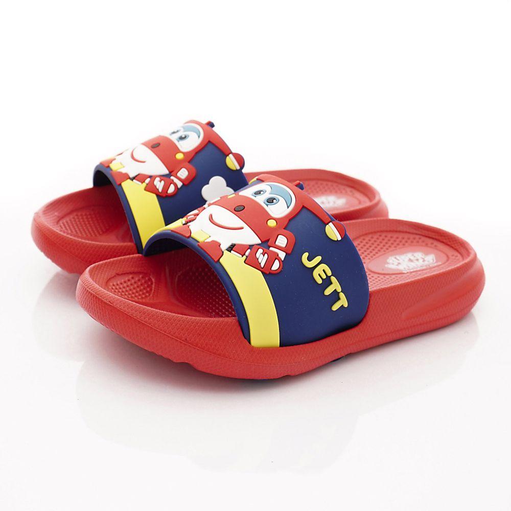 SuperWings - 卡通童鞋-超輕量拖鞋(中小童段)-紅