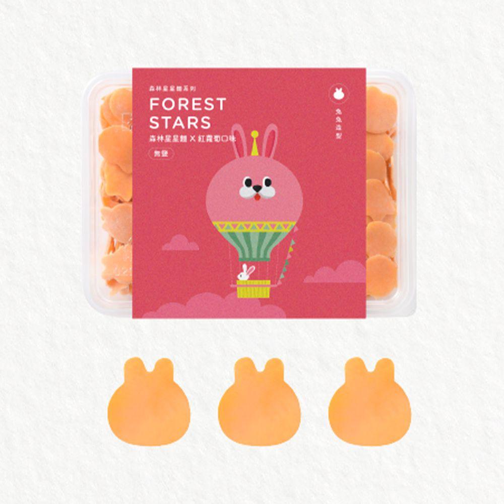 森林麵食 - 森林星星麵-紅蘿蔔口味X兔兔造型-200g/份