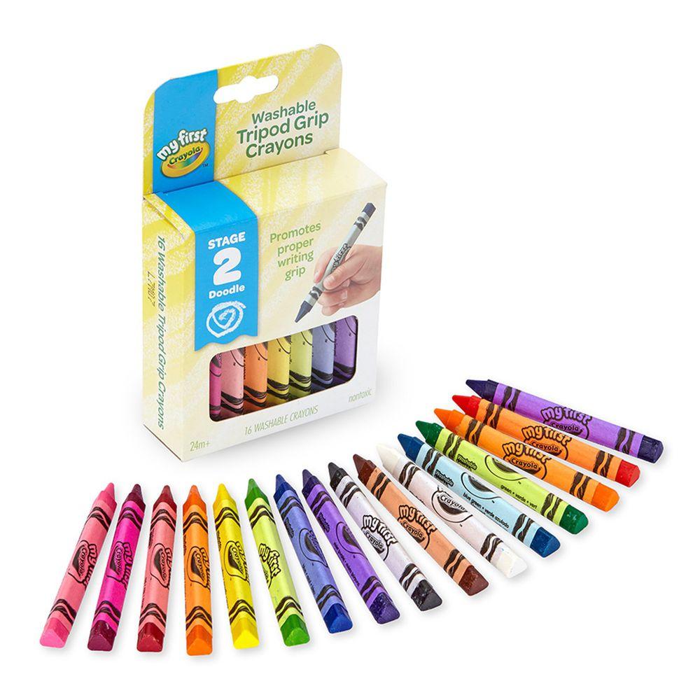 Crayola繪兒樂 - 幼兒可水洗三角筆桿蠟筆16色