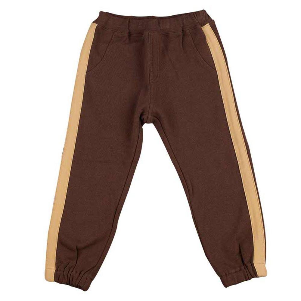 akachan honpo - 褲子 側邊線條-咖啡色
