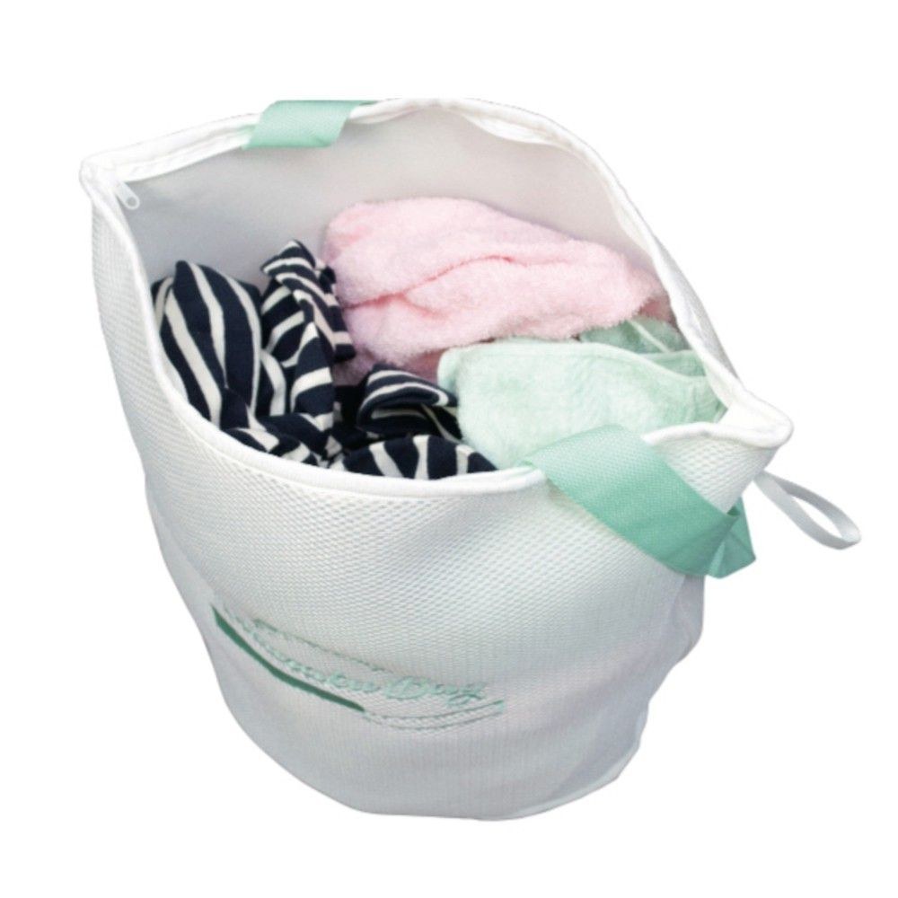 日本 alphax - 喜衣袋 三層加厚萬用便利洗衣袋/洗衣籃-水綠-無分隔