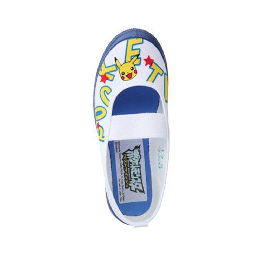 日本 ASAHI - (盒損特價)日本製幼兒園室內鞋-皮卡丘XPOKEMON-深藍