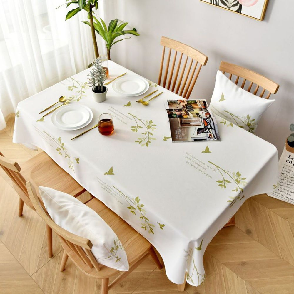防水防髒桌布-小清新植物-綠色