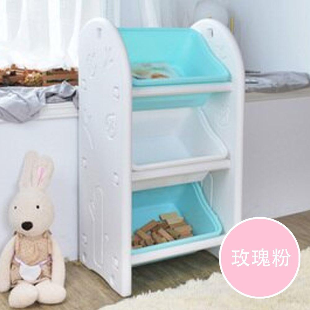 家窩 - 伊格玩具斜取收納櫃-DIY-玫瑰粉