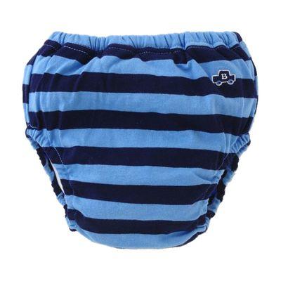 男寶四層學習褲-小車條紋-藍
