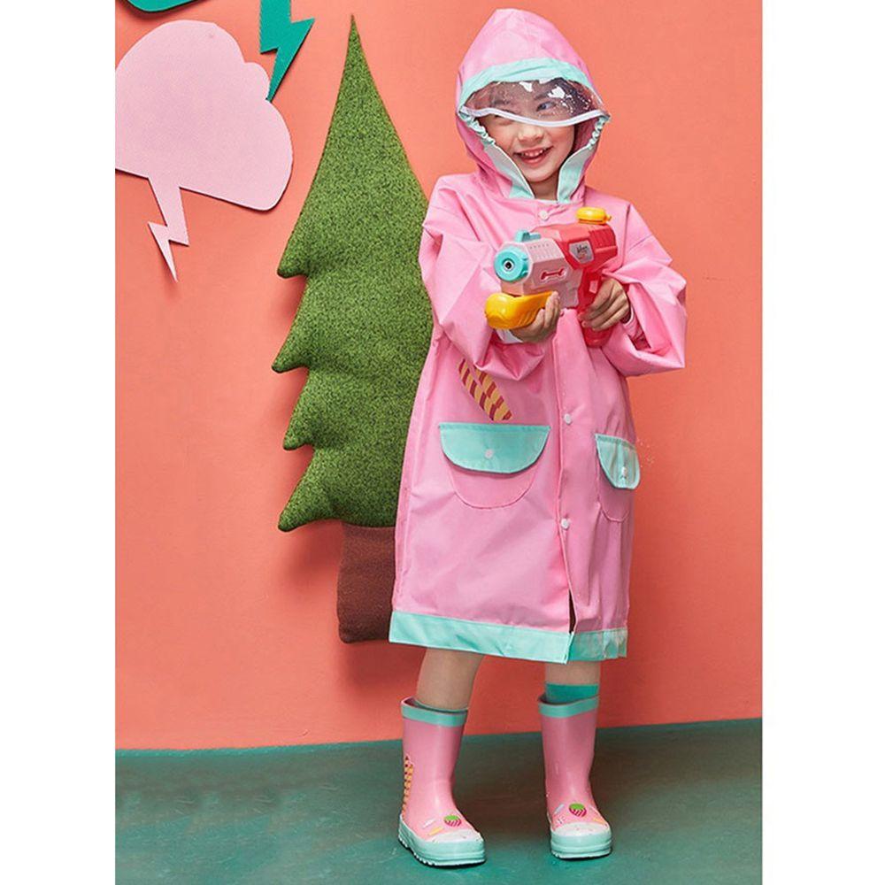 韓國lemonkid - 牛津布造型雨衣-粉色蛋糕