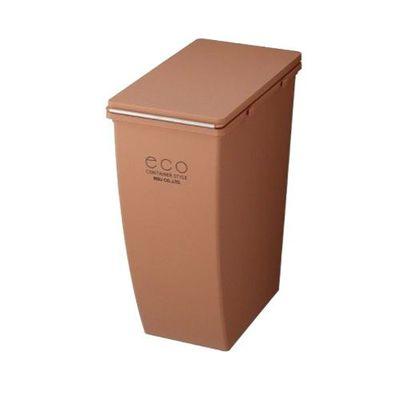 簡約造型垃圾桶-橘紅色-21L