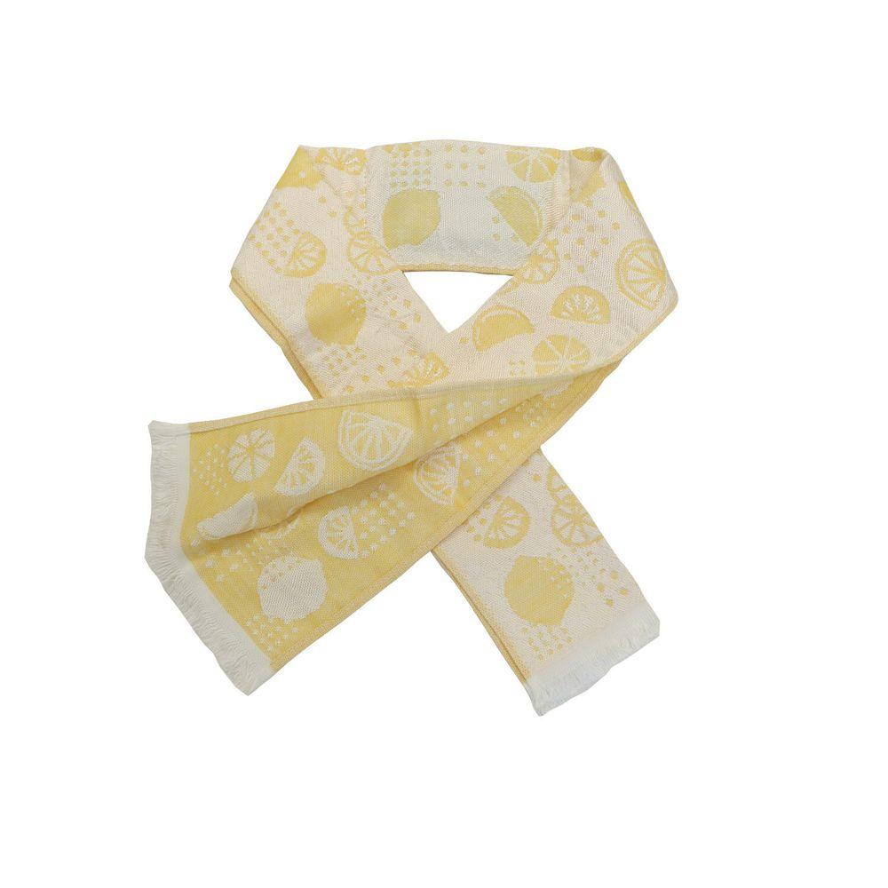 日本涼感雜貨 - 日本製 Eco de COOL 接觸冷感毛巾(附保冷劑)-檸檬-黃 (90x8cm)