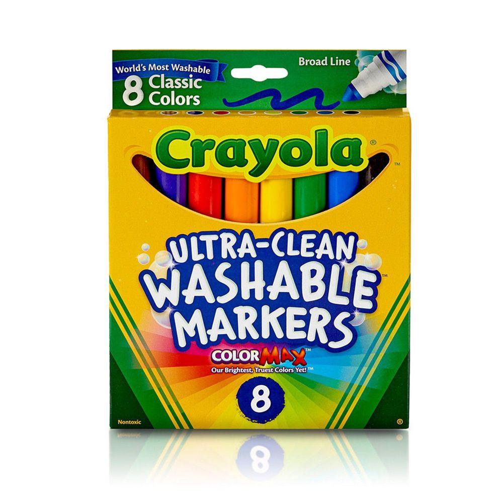Crayola繪兒樂 - 可水洗粗頭彩色筆經典色8色