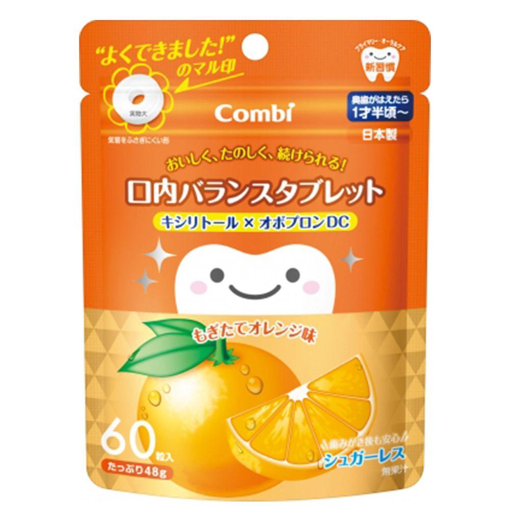 日本 Combi - teteo無糖口嚼錠-橘子口味