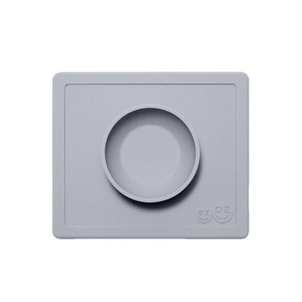 美國 ezpz - 快樂餐盤 Happy Bowl-餐碗-星塵灰 (26cm*23cm*3.8cm)-240ml