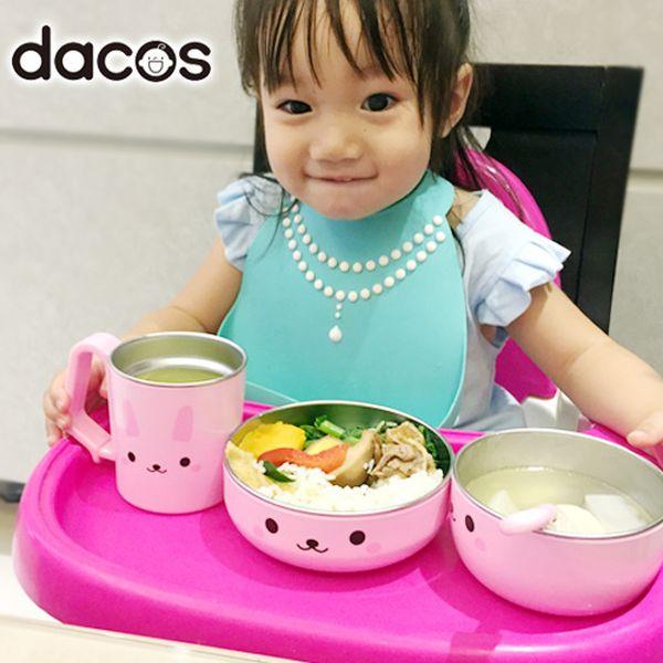 日本dacos寶貝大口吃不鏽鋼餐具組,無毒無BPA,造型可愛