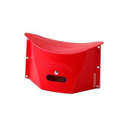 一公分超薄折疊椅-紅色 (S)