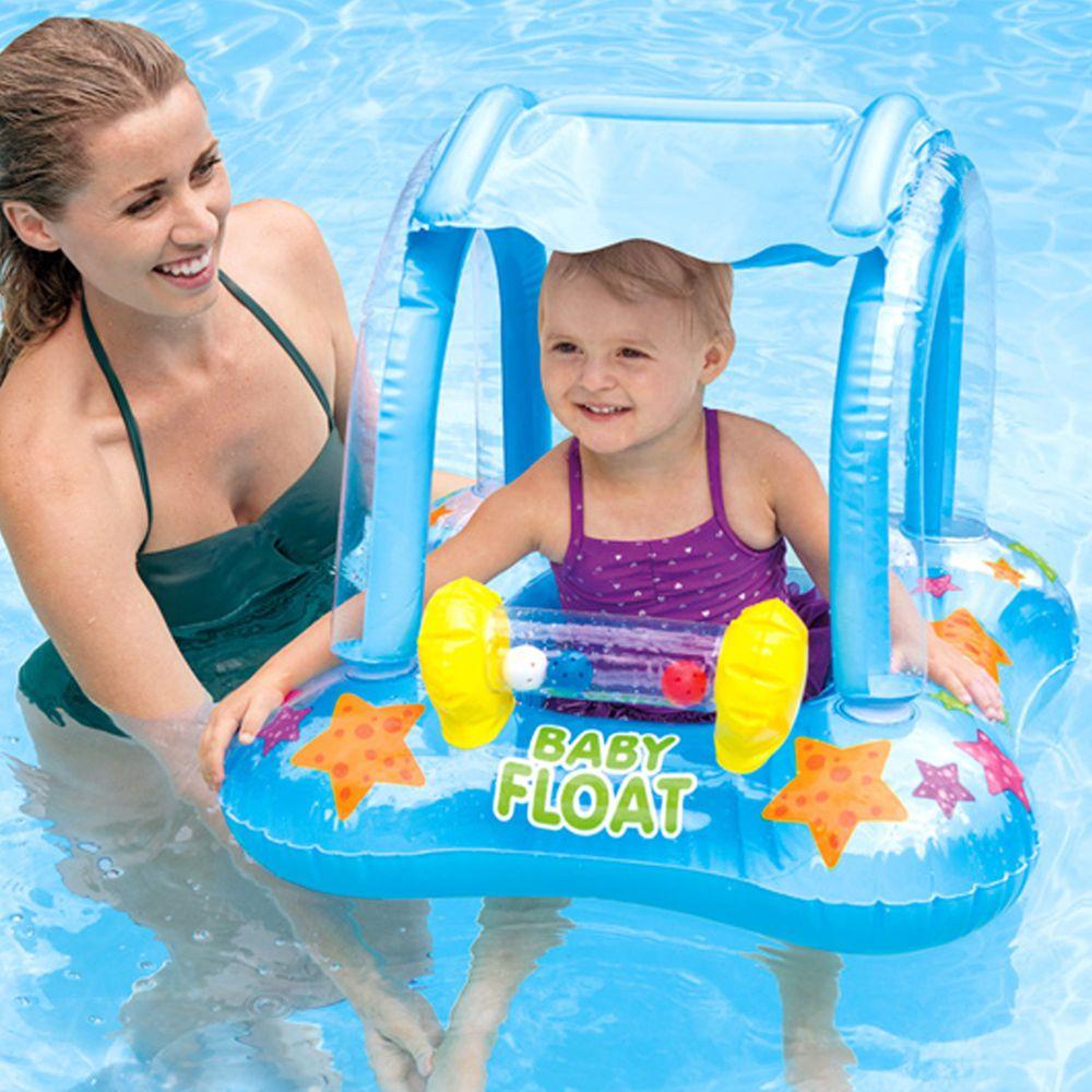 INTEX - INTEX BABY幼兒遮陽戲水泳圈(80*66cm)適用:1-2歲(56581)