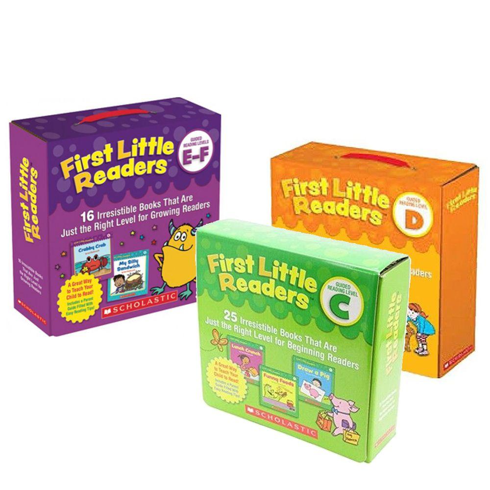 Scholastic - 【超值購】我的第一套小小閱讀文庫First Little Readers Level C+D+ E-F-3盒組