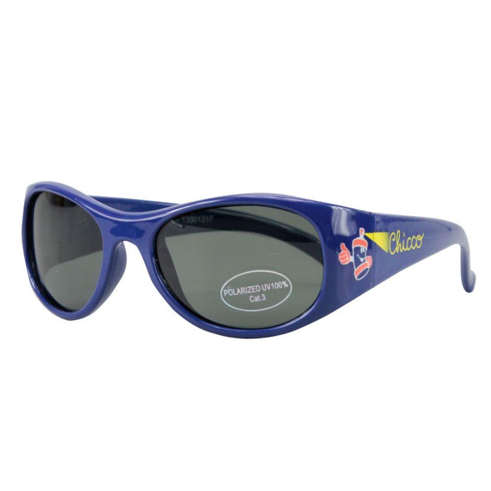義大利 chicco - 兒童專用太陽眼鏡-偏光-街頭塗鴨藍