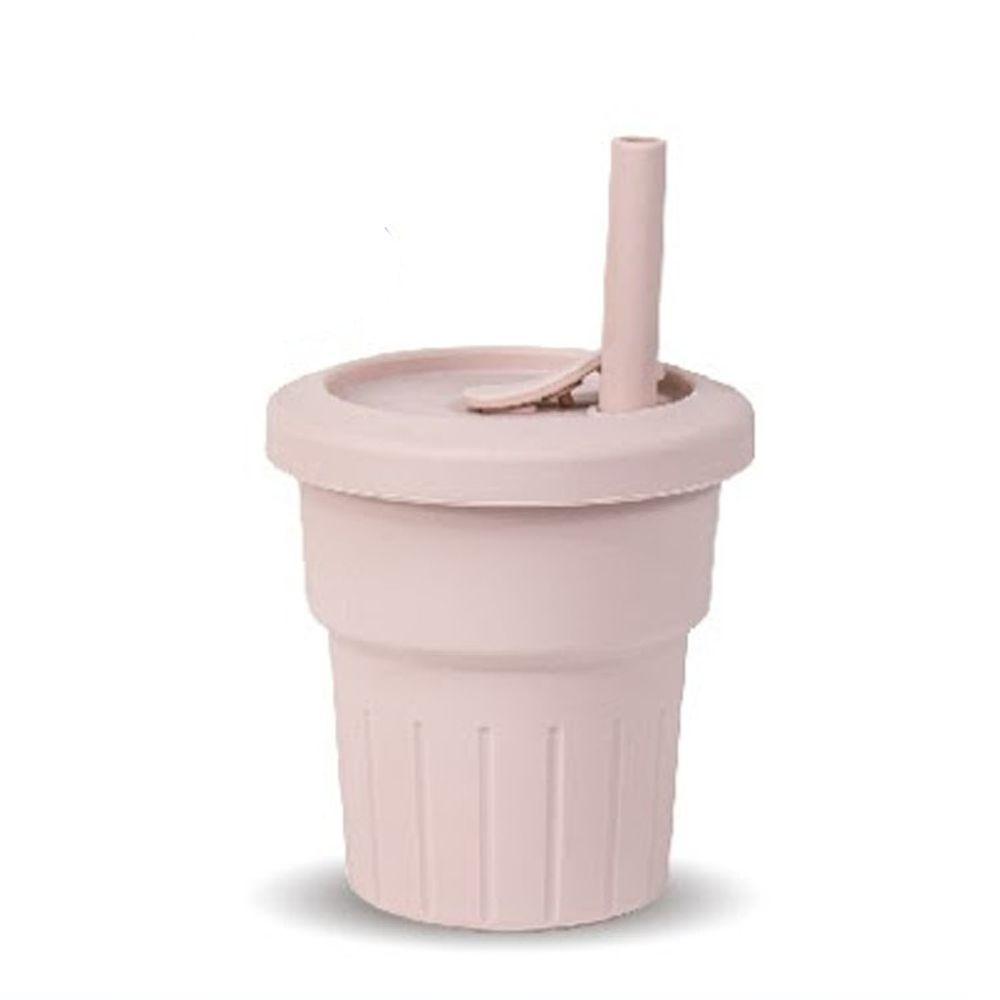 KOM - 台灣製矽膠環保隨行小巧杯一入組-櫻花粉 (330ml)