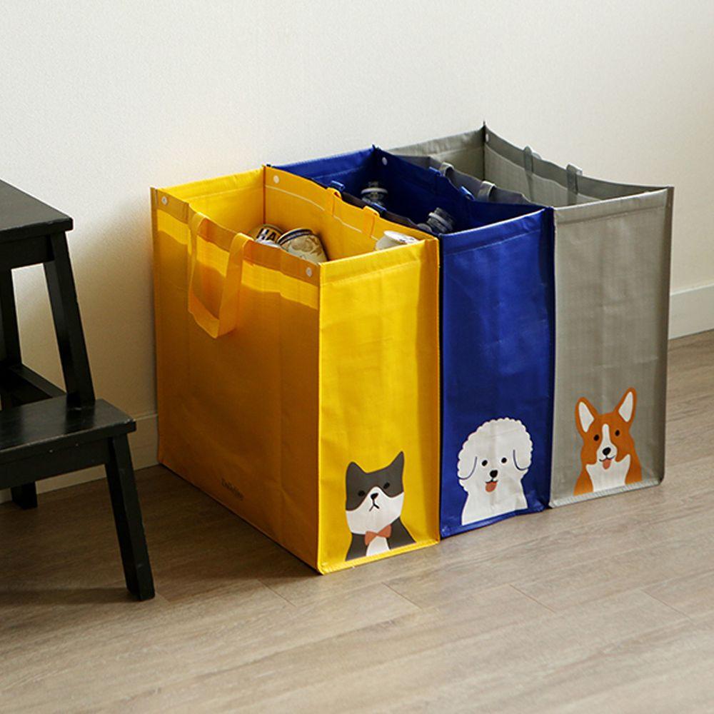 韓國 Daily Like - 組合式衣物/玩具收納袋(3入)-貓咪X貴賓狗X柯基