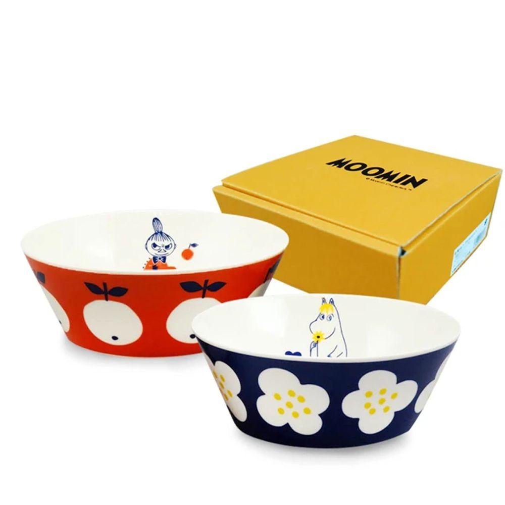日本山加 yamaka - moomin 嚕嚕米彩繪陶瓷碗禮盒-MM0324-79-2入組