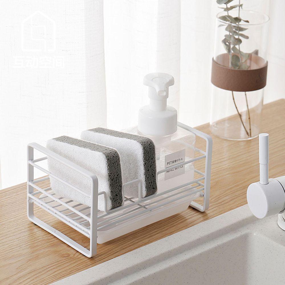 廚房海綿瀝水收納架-附接水盤