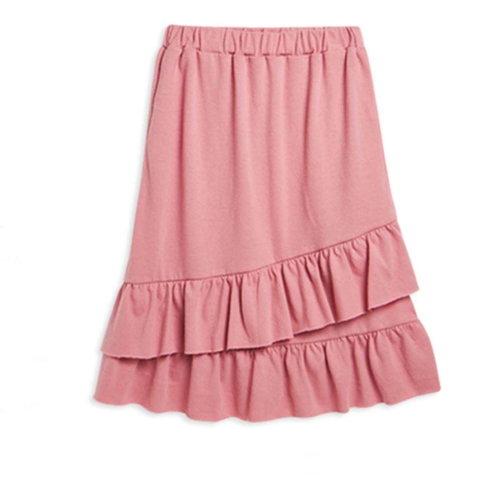麗嬰房 Little moni - 荷葉魚尾裙-熱情粉