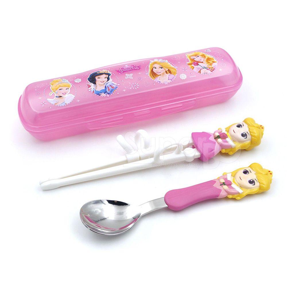 Disney - 3D學習筷湯匙組-睡美人(附盒)