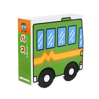 可連結磁鐵車車造型繪本-巴士 (13.5×13.5×4cm)