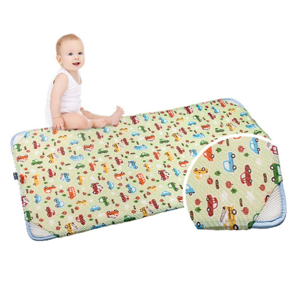 韓國 GIO Pillow - 智慧二合一有機棉超透氣排汗嬰兒床墊-趣味汽車 (M號)