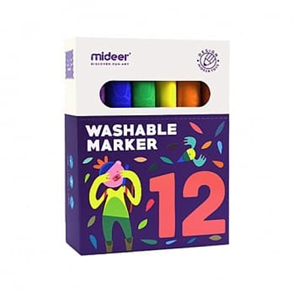 MiDeer - 【新品】可洗彩色筆-12色