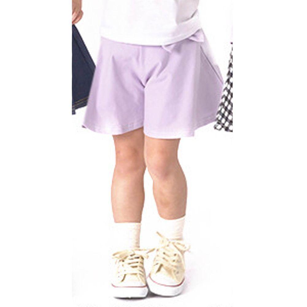 日本 TORIDORY - 蝴蝶結傘狀褲裙-薰衣草
